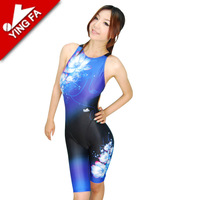 Yingfa britain three-dimensional print one piece swimwear - 987