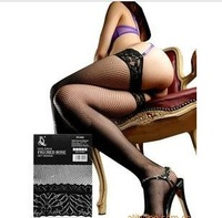 Free Shipping Hot Sale 2013 Women's Porn Black Sexy Lace Fishing Nets Stockings  WZ09 Knee-High Stocks 1Pcs