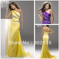 Elegant Design Beaded One Shoulder Sheath Custom Made Party Prom Evening Dress 2013