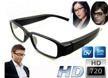 Wholesale digital hidden mini HD720P glass camera video recorder Camcorder 2pcs/lot