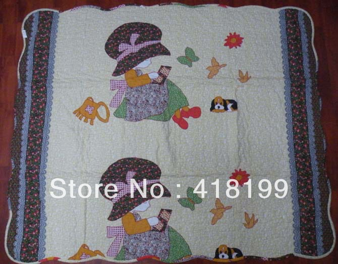 Patchwork baby quilt(China (Mainland))