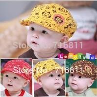 6pcs- Lovely Cute Toddler Infants Boys Girls Baby ROBOT PRINT Baseball Cap, Children Hat Beanie Hat Headwear 85
