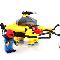 Treasure digging submarine Enlighten 1214 128pcs building blocks 3D DIY assembling educational toy birthday gift Free Shipping
