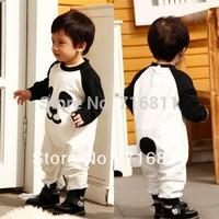 4pcs-Baby Spring Autum Long Sleeve Romper kids childrets toddler cartoon panda design jumpsuits 146