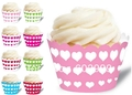 Free Shipping 2400 x Spotty & Dotty polka-dotted Cake Cupcake Wrappers Wraps Sleeves COLLARS SKIRTS  Cup Cake Wraps in 8 colors