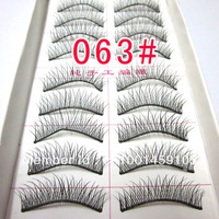 hot+ wholesale  063 # handmade false eyelashes (10 pairs) handmade false eyelashes