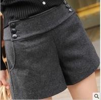Pants woolen shorts boot cut jeans straight all-match mid waist shorts
