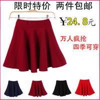 2013 spring and summer basic skirt fluffy short skirt expansion bottom sun dress pleated skirt women's short skirt bust skirt