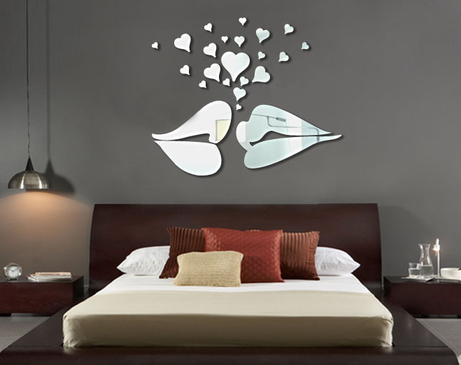 Buy wholesale ikea style acrylic background love kiss mirror - Stickers miroir ikea ...