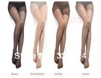 FreeshippingSexy high quality wrap core silk women's tights stockings pantyhose Ultra-thin women tights 4colors10pcs wholesale