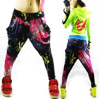 new 2014 summer hip hop dance wear harajuku Punk Jazz hiphop sport wear women Jazz dance Hip hop pants Spring and summer Loose