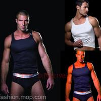 Free shipping! 3 2xist male vest tight elastic sleeveless vest sports vest fitness