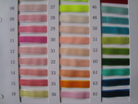 Flock printing Velvet Ribbon Color Chart Card 240 Colors belt color card 1.5cm 2cm 2.5cm 3cm 4cm 5cm