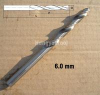 Fully Ground 10 pcs Straight Shank HSS(M2) Twist drills Bits 6.0mm Drill tools