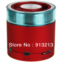 2013 wholesale and dropshipping KN-M16 High Fidelity USB MP3 speaker Mini Digital Media Speaker Stereo Music Box - Red and White
