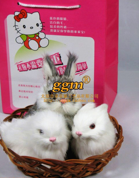 Artificial cat rabbit lovers rabbit big white rabbit Rabbit fur handmade, free shipping, wholesale please consulting price.(China (Mainland))