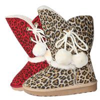 Autumn and winter ugc snow boots leopard print child cotton-padded shoes warm shoes parent-child shoes ugc002 30 - 35