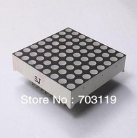 Free shpping /10pcs/lot    3MM / 8 * 8 dots / common anode / red  led  highlight / led module/ led dot matrix / dot-matrix