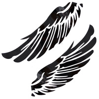 Free shipping Myrmeco- auto supplies personalized car stickers fashion reflective stickers fan-shaped large wings a pair
