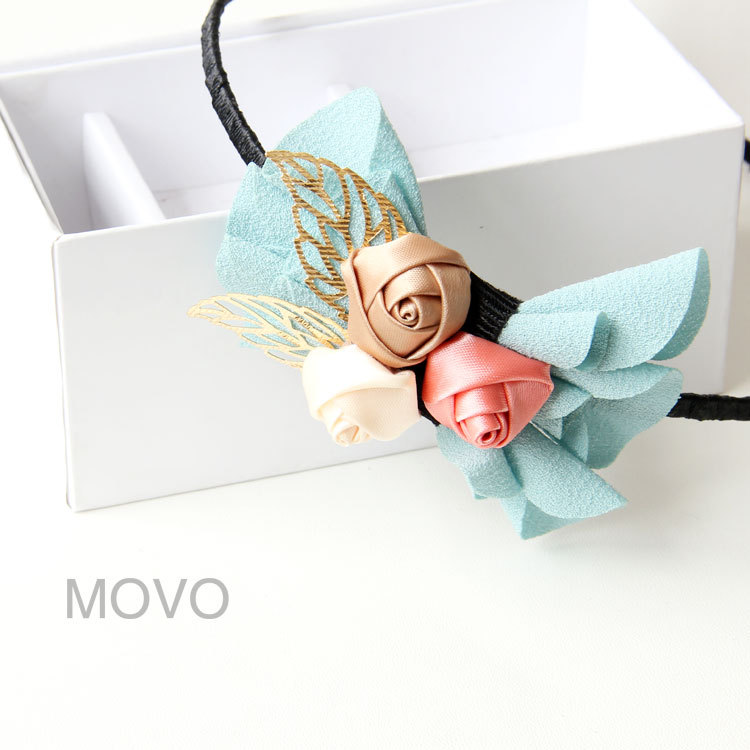 Free shipping, 2013 new Gentlewomen rose bow hair band handmade accessories headband(China (Mainland))