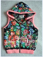 Free shipping 2013 Russian new LOVE COUTURE by LOURDES classic printing hooded women's cotton vest
