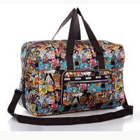 2014 Spring and summer waterproof folding super large capacity travel bag handbag messenger bag women's handbag free shipping