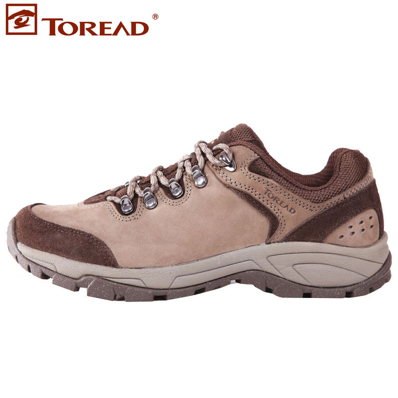 Free shiping Outdoor shoes walking shoes hiking shoes female cowhide slip-resistant tfaa92006 running shoes(China (Mainland))