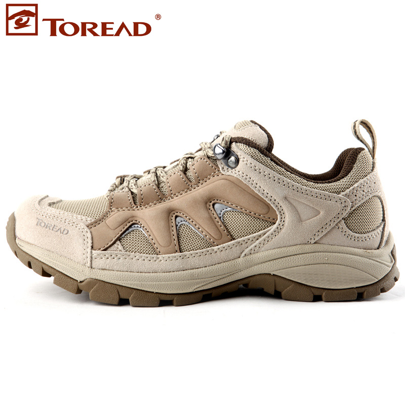 Free shiping Female walking shoes hiking shoes outdoor shoes running shoes slip-resistant genuine leather breathable tf9035(China (Mainland))