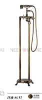 Antique Free standing Bathtub shower Faucet  Feet Mixer Tap Floor Stand Faucets for bathroom HM8017 Free shipping