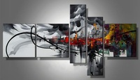hand painted frameless xuhuan abstract big mural oil painting on canvas home decoration home decor