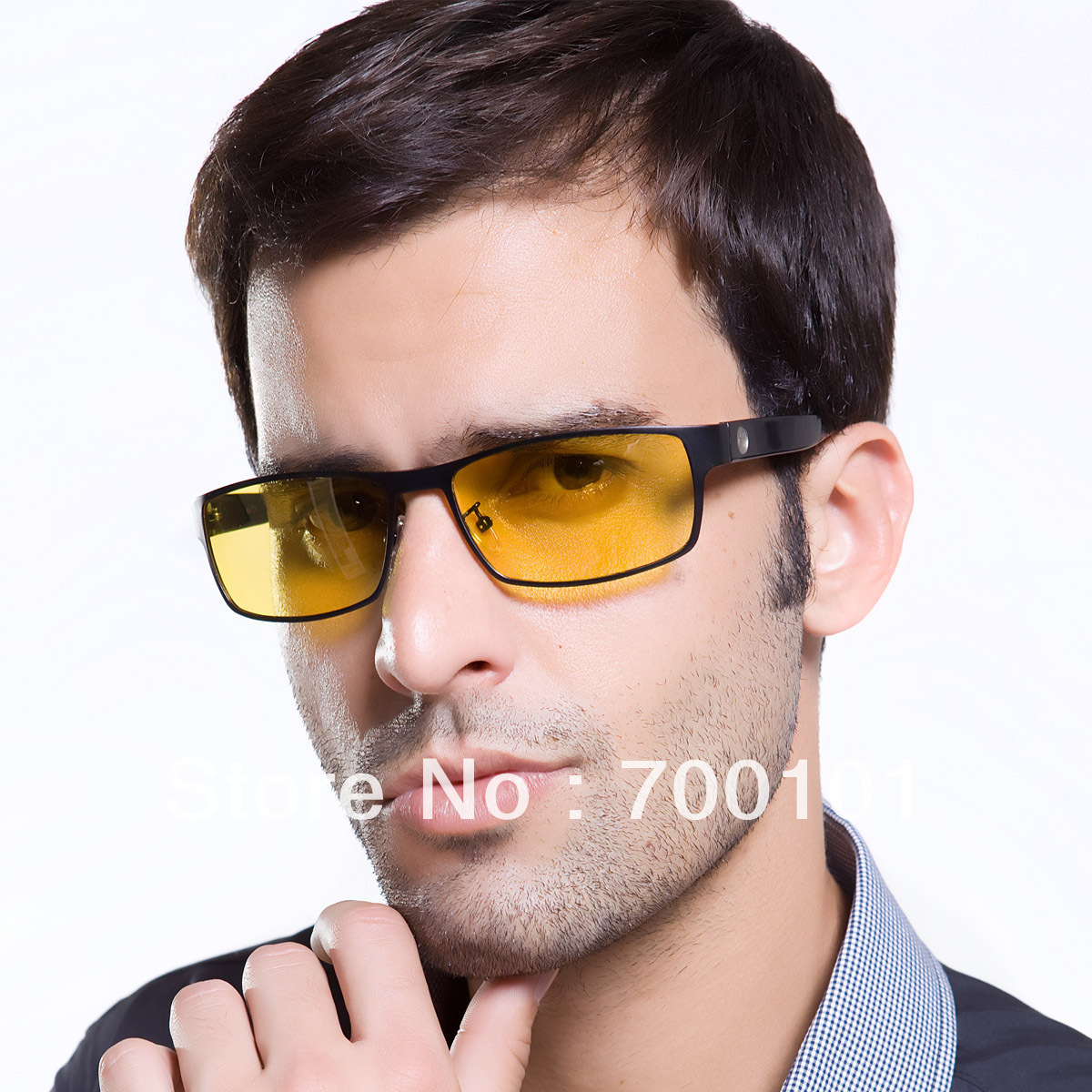 Free shipping-Top quality-Night casual mirror driver polarized sunglasses male sunglasses night vision glasses light headlight(China (Mainland))
