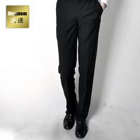 Male western-style trousers slim wrinkle business casual western-style trousers spring and autumn