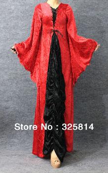 False two-piece vintage velutum women's muslim clothing,abaya,Arabic dress islamic cloth,Free shipping
