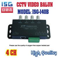 ISG-140B passive video balun,4 channel UTP passive Video  Transceiver fit for NTSC/PAL/SECAM/CCIR, BNC Female,lightning protec