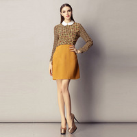 Spring fashion ladies one-piece dress 2013 spring long-sleeve one-piece dress