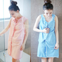 Microfiber absorbent magic bath towels Soft couple bathrobe Can wear bath skirt Sexy & fashion 86*155cm 300g /piece 5 colors