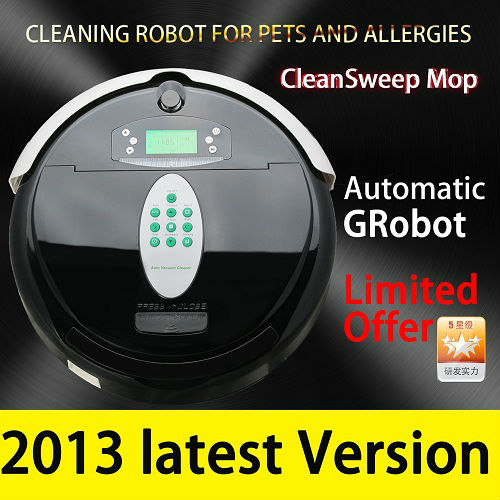 AUTOMATIC MOP ROBOT VACUUM CLEANER BAGLESS ROBOTIC CLEANING FLOOR SWEEPER(China (Mainland))