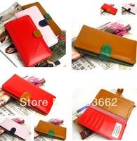 women's PU envelope clutch bag long leather Wallet Ladies designer Purse Checkbook Handbag drop shipping