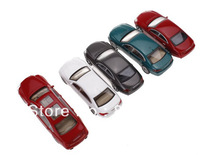 100pc  Wholesale - 1:75 scale model plastic car for  Landscape Train Model Scale architectural scenery