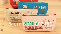 wholesale retail cartoon animal canvas Pencil pen Case Pocket organizer storage Makeup cosmetic stationery bag with zipper whcn