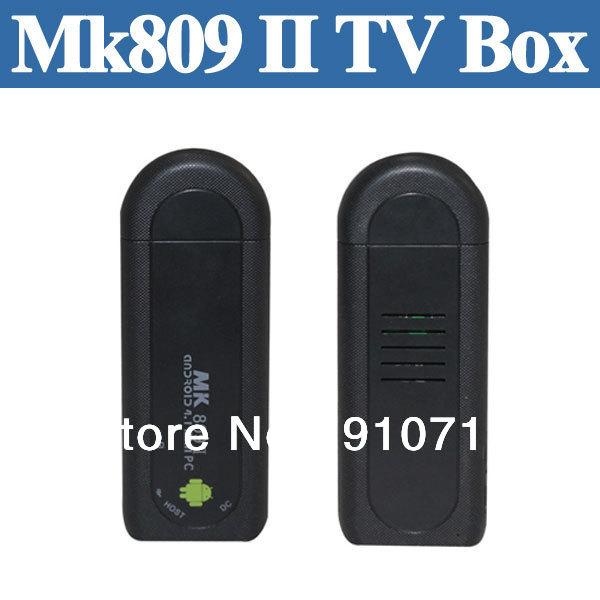 MK809 II Android 4.1 Mini PC TV Stick Dual Core CPU 1.5GHZ MINI Dongle 512MB RAM 8GB ROM Google Bluetooth MK809II Smart TV Box(China (Mainland))