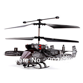 Free shipping 4-Channel Gunship Shooting RC Helicopter with Gyro/ Remote Control Helicopter With LCD Light/RC Toys