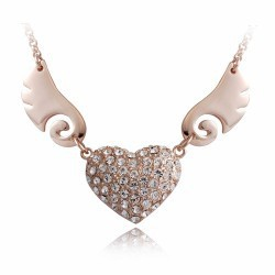 free shipping 2013 fashion designer jewellery Accessories female fashion crystal pendant necklace heart 2648 ruby(China (Mainland))
