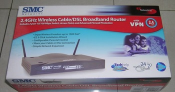 NEW SMC Networks 2.4GHz Wireless Cable/DSL Broadband Router Model SMC7004VWBR