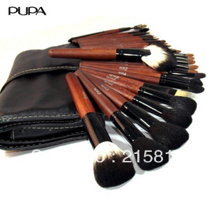 Professional makeup brush 30 sable brush set black pupa small