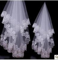 v1 Free shipping Wedding Bridal veils Dress lace Wedding Accessories veils shorter than 60cm 2014