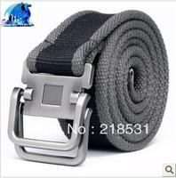 wholesale Men canvas belt 2-ring men's canvas belt thickening canvas belt buckle belt bag mail