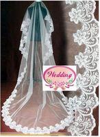 v2 Free shipping Wedding Bridal veils Dress lace Wedding Accessories 275cm bridal veils 2014
