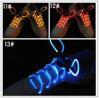 Free shipping LED Optical Fiber Flashing Shoelaces,Optical Fiber Glowing Light LED Shoelaces Glow Dark Shoelaces Wholesale X-529