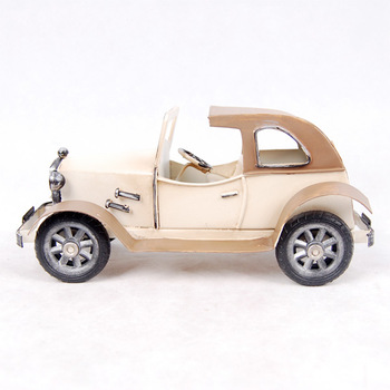 C6D  Metal handicraft iron color convertible classic car wecker model  free shipping